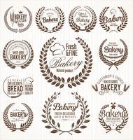 bageri retro etiketter
