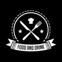 Restaurangemblem och logotyp, bra för tryck