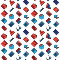 Business ikoner sömlösa mönster