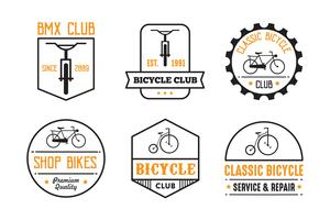 Fahrradabzeichen und Logo, gut für Druck vektor