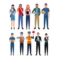 Uppsättning av jobb och yrke vektor