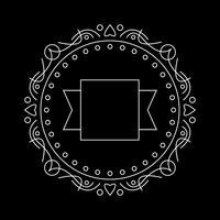 Klassische Frame-Logo-Vorlage. Am besten zur Dekoration vektor