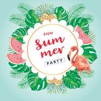 Sommar reklam semester. marknadsför rabatt på försäljning. semester shoppingtid, kreativ akvarell vektorillustration design