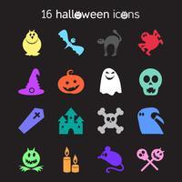 Halloween ikoner set