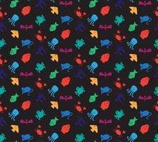 Djur ikoner sömlösa mönster