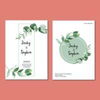 Vårinbjudankort med blommig lönn och blad. friskhet botanisk, tackkort, mödrar dag blomma akvarell vektor illustration design