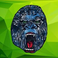 Brummande gorillatatuering
