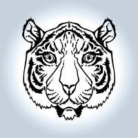 Linie Kunst Tiger