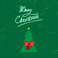 Handgeschriebene Beschriftung des Weinlesetextes der frohen Weihnachten
