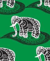 Seamless indiskt mönster vektor
