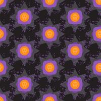 Geometrisches nahtloses Muster bunten Halloweens des Schmutzes vektor