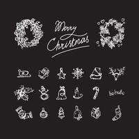 Frohe Weihnachten-Symbole