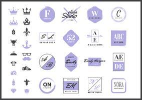 feminin Retro Vector Logo för banner