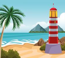 strandlandskap tecknad