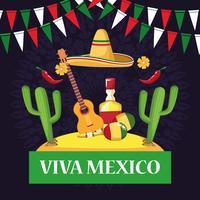Viva mexico-korttecknateckningar