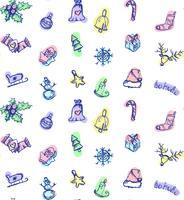 Frohe Weihnachten-Muster vektor