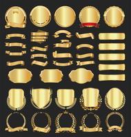 Lyxiga premium gyllene märken och etiketter