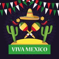 Viva mexico-korttecknateckningar vektor