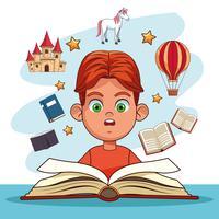 Kinder, die Märchen lesen vektor