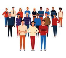 Karikatur der jungen Leute vektor