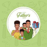 Lyckliga fädernas dagskort