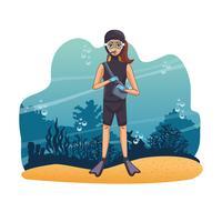 Dykning av människor i havet
