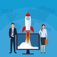Startup affärsidé vektor