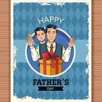 Lyckliga fädernas dagskort vektor
