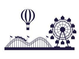 Blaue und weiße Farben der angemessenen Landschaft des Zirkusfestivals
