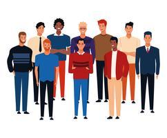 Karikatur der jungen Leute