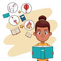 Kinder, die Märchen lesen