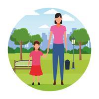 Familjefigurer vektor