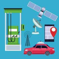 GPS-koncept för platsbilservice vektor