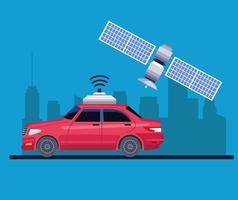 GPS-koncept för platsbilservice