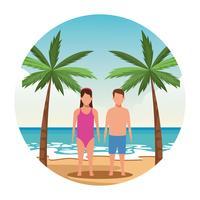 Urlaub am Strand vektor