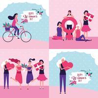 Glad kvinnodagskort