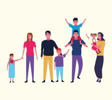 Familiengruppen-Avatar vektor