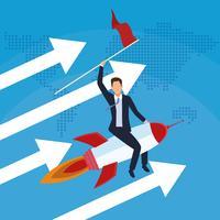 Start-Business-Konzept vektor