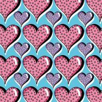 Herzsymbol des Liebeshintergrunddesigns vektor