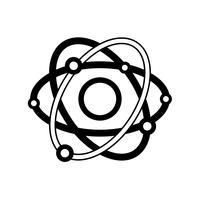 Umriss Physik Umlaufbahn Atom Chemie Bildung vektor