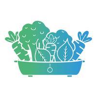 Linie Bio-Lebensmittel Gemüsenahrung