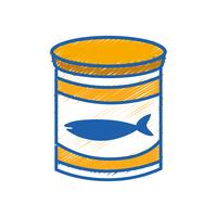 kan tonfiskmåltid med hälsosam kost vektor