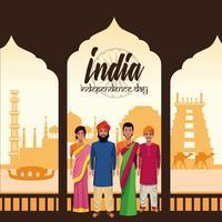 Indiens självständighetsdagskort
