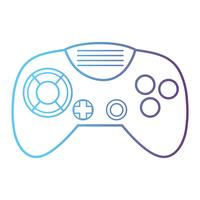 Line-Videospiel-Controller elektronische Technologie vektor