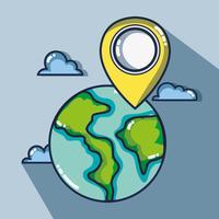 äventyrsdestination resa till semester turism vektor