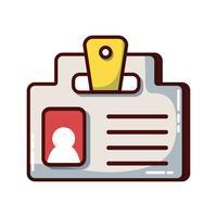 affärsdokument information strategi meddelande vektor
