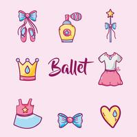 uppsättning ballett tillbehör dekoration design