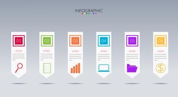 modern Infographics tidslinjevektor