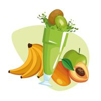 smoothies med frukt vektor