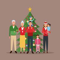 Frohe Weihnachten in der Familie vektor